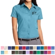 Port Authority® Ladies Short Sleeve Easy Care Shirt - Ladies short-sleeve button-down shirt