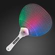 Flashing Fancy Fan with LED Lights - Blank or imprinted. Custom flashing fancy fan with LED lights.