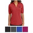 OGIO Ladies' Metro Polo - Ladies polo with multiple OGIO brands, moisture wicking, a self-fabric collar, open placket, and back yoke pleat.