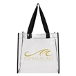 ADAMS CLEAR GAME DAY TOTE BAG - A clear open tote