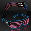 Totally '80s Wire Glow Shades - Blank or imprinted. Slotted Stunner Shades with EL Wire.