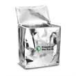 Metallic Reusable Insulated Cooler Bag 12.5 - 80 GSM non-woven cooler bag with laminated gloss finish