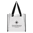 """Clear Tote Bag - Clear tote bag with 1"""" wide handles."""