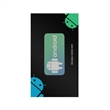 """2"""" x 1"""" Dye-Sublimated Screen Cleaner Sticker w/ Backer Card - 2"""" x 1"""" screen cleaner sticker with backer card."""