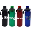 LOCKING LID 24 OZ. ALUMINUM BOTTLE - 24 oz. refillable water bottle Includes locking lid with lanyard BPA free; not recommended for dishwasher or microwave