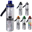 LOCKING 18 OZ. CONFETTI BOTTLE - 18 oz. refillable insulated water bottle with confetti between the walls Includes locking lid with lanyard Full Color Insert inser