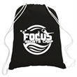 5.5 oz. Cotton Canvas Drawstring Backpack - 100% cotton white drawstring backpack with white adjustable, extra-soft cotton rope closure.