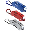 The Everything Tool with Carabiner - Multifunctional tool key chain with pen, bright LED light and pocketknife.