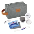 Rugged On-The-Go Kit - Travel kit that includes toiletry bag, stain remover pen, foldable lint roller, shoe shine and easy grip nail clipper.