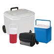 Coleman Cooler Package - Cooler set with a nine-can collapsible cooler, 18-quart cooler, 2-liter jug and 60-quart wheeled cooler from Coleman
