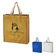 Metallic Non-Woven Shopper Tote Bag - Metallic Non-Woven Shopper Tote Bag.  Made Of 80 Gram Laminated Non-Woven, Coated Water-Resistant Polypropylene.  Recyclable.