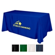 Flat 3-sided Table Cover - fits 6' table (100% Polyester) - 100% polyester flat 3-sided table cover