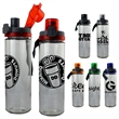 LOCKING 22 OZ. GLASS BOTTLE - 22 oz refillable water bottle Includes locking lid with lanyard BPA free; not recommended for dishwasher or microwave