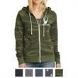 Alternative Ladies' Adrian Eco-Fleece Zip Hoodie - Ladies' eco-fleece zip hoodie with a kangaroo pocket and natural drawcords.