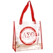 """Dynamic 12inch message pvc clear shopping bag - 12""""x12""""x6"""" pvc clear tote bag with reinforced handle"""