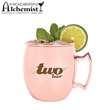 Copper Mule Mug - Crafted from stainless steel with a copper plated exterior and a brass handle.
