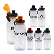 LOCKING 32 OZ. BOTTLE WITH CHILLER - 32 oz. refillable water bottle Includes locking lid with lanyard and chiller Holds 28-30 oz. when infuser is filled with fruit BPA