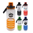LOCKING 28 OZ. RING BOTTLE WITH CHILLER - 28 oz. refillable water bottle Includes locking lid with lanyard and chiller Holds 24-26 oz. when infuser is filled with fruit BPA