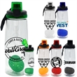LOCKING 25 OZ. CLEAR CONTOUR BOTTLE  - 25 oz. refillable water bottle  Includes locking lid with lanyard and floating infuser  Holds 21-23 oz. when infuser is filled wit