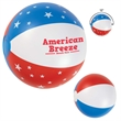 """16"""" USA Beach Ball - 16"""" beach ball with USA design featuring stars and stripes or stripes only."""
