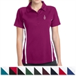 Sport-Tek Ladies' PosiCharge Micro-Mesh Colorblock Polo - 100% polyester double mesh polo with color blocking on the shoulders, sleeves, and sides.