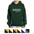 Sport-Tek Youth Sleeve Stripe Pullover Hooded Sweatshirt - Youth sleeve stripe pullover hooded sweatshirt with fade and shrink resistance.