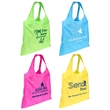 Spring Sling Folding Tote Bag - Folding tote bag with O-shape style handles.