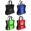 Wave Rider Folding Tote Bag - Folding tote bag with black accent trim and reinforced bottom panel.