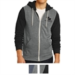 Alternative Men's Colorblock Rocky Eco-Fleece Zip Hoodie - Eco-fleece zip colorblock hoodie made of polyester, cotton, and rayon with a kangaroo pocket and natural drawcords.
