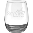 "Eminence Red Wine Glass - 4.7"" tall 17-ounce Eminence red wine glass with rippled-bottom bowl design."