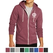 Alternative Men's Rocky Eco-Fleece Zip Hoodie - Eco-fleece zip hoodie made of polyester, cotton, and rayon with a kangaroo pocket and natural drawcords.