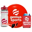 """Outdoor Fun Bundle - 9"""" flyer, 20 oz. sports bottle, sunglasses and folding foam can cooler shrink-wrapped together."""
