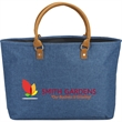 Heathered Suede Accent Tote - Heathered Suede Accent Tote