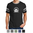Alternative Men's Sideline Vintage 50/50 Tee - Men's vintage T-shirt made of 50/50 cotton/polyester with a tonal stitching and contrast neckband and sleeve striping.
