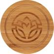 Round Bamboo Coaster Set with Holder - Round Bamboo Coaster Set with Holder