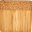 Bamboo and Cork Coaster Four Piece Set - Bamboo and Cork Coaster Four Piece Set
