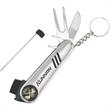7 in 1 Golf Tool - 7 in 1 golf tool with sleek stainless steel design.