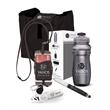 """Lobby 5-Piece Trade Show Gift Set - 12"""" x 9.38"""" x 3.12"""" Lobby 5-piece gift set; includes 24 oz. bottle, earbuds, phone and card holder, ballpoint pen, and tote bag."""