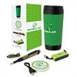 Gratitude 4-Piece Thank You Gift Set - Four-piece gift set with 17 oz. tumbler, USB hub with Type A and C connectors, and a 7-in-1 utility pen.
