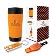 Inspiration 3-Piece Safety Gift Set - Three-piece gift set with 17-oz. polypropylene travel mug, reflecting safety whistle and LED miniature flashlight.