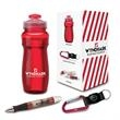 """Performance 3-Piece Safety Gift Set - 3.12"""" x 9.38"""" x 3.12"""" performance 3-piece safety set; includes 24 oz. bottle, aluminum carabiner with compass, and ballpoint pen."""
