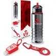 """Champion 3-Piece Fitness Gift Set - 3.25"""" x 10"""" x 3.25"""" Champion 3-piece fitness gift set with 25 oz. bottle, 1 oz. hand sanitizer, and 4-in-1 safety tool."""