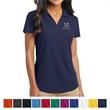 Port Authority Ladies Dry Zone Grid Polo - Port Authority ladies grid polo made of 100% polyester with moisture wicking and odor control.