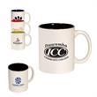 11 oz. Two Tone C-Handle Mug - 2 tone 11 oz ceramic mug