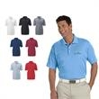 Adidas® Golf Men's Climalite Basic Short-Sleeve Polo - Men's polo made of 100% polyester with three-button placket, rib knit collar and Adidas® brandmark on the right sleeve