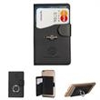 Tuscany™ Duo Card Pocket with Metal Ring - Card pocket and metal ring smartphone holder