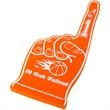 """22"""" Foam #1 Hand - 22"""" foam hand with a """"number one"""" design and available in thirteen different colors."""