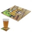 """4-1/4"""" Sq. Ceramic Coaster with Gloss Finish - Ceramic coaster with full-color print, glossy finish and cork-reinforced bottom to prevent slipping."""