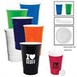 16 oz. GameDay Tailgate Cup - 16 oz. insulated and reusable plastic party cup that's designed to hold hot and cold beverages.