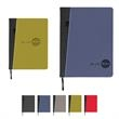 Baxter Large Refillable Journal (With Front Pocket) - Baxter large refillable journal with front pocket; includes approximately 128 lined sheets of 80G cream paper (wide ruled).